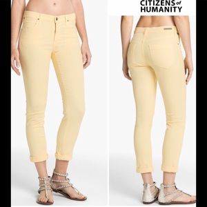 Citizens of Humanity butter yellow Carlton Skinny
